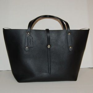 Coach Black Market Tote with floral interior
